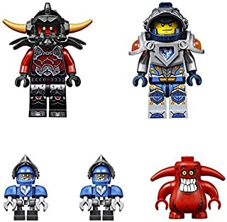 LEGO Minifigures - Nexo Knights (5 minifigures: Clay Moorington, 2 Claybots, an Ash Attacker and a Scurrier). No Packaging.