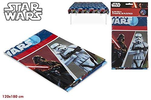 ColorBaby, 71910, Mantel de plastico Star Wars para Fiestas y cumpleaos, 120x180 cms