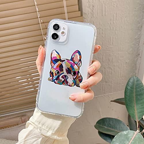 Bulldog Phone Case French Bulldog Phone Case for iPhone 6 7 8 11 12 Pro XS MAX XR X Mini Plus SE 2020 Soft Silicone Phone Cover 081