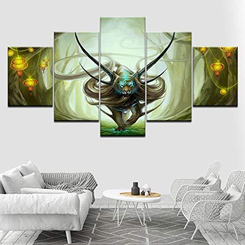 YQSL Leinwanddrucke Leinwand Gemälde Evanescence 5 Stück Tapeten Poster Print Home Decor Drucke auf Leinwand