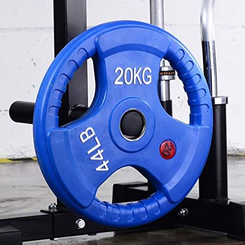 Discos de Pesas Discos Olímpicos 10kg / 15KG / 20kg / 25kg placas con barra individual 3 agujeros Pesas Pesas de disco for placas Home Fitness Gym pesas con mancuernas Peso Barra Discos de Pesas para