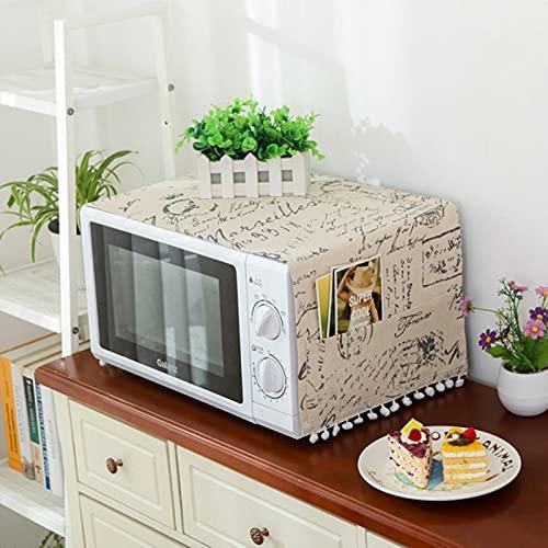 Lzjbs Cubierta de microondas Campana de Horno de microondas Cubierta de Polvo de Aceite con Bolsa de Almacenamiento Accesorios de Cocina Suministros decoración del hogar