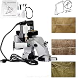 ECO LLC Portable 110V Electric Bag Closer Machine Bag Stitching Closing Seal Sewing Machine 90W Seaming Machine Ideal for Woven Bag/Snakeskin Bag/Sack(Sewing Thread not Include)