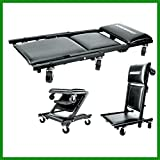 House Deals Floor Folding Platform Creeper Roller Seat Brake Stool Ninyl Cushion 40' Long 3 in 1