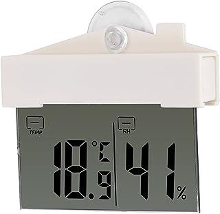 Ladieshow termómetro LCD hidrómetro Digital Interior Exterior estación meteorológica con Ventosa y Cinta Adhesiva