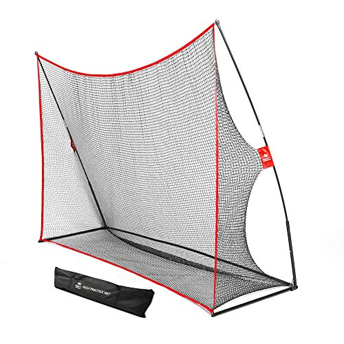 Practice Golf Hitting Net by Day 1 Sports - Large 10' x 7' - Portable Carry Bag - Indoor or Outdoor Use - Quick and Easy Assembly - Durable Golf Practice and Training Equipment, Personal Driving Range