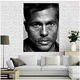 A&D Leinwand Poster Brad Pitt Poster Home Decoration Stoff