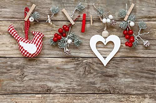Fondo de fotografía Día de San Valentín Corazones Rojos Pared de ladrillo Blanco Fiesta de cumpleaños Retrato de recién Nacido Estudio fotográfico Telón de Fondo A8 7x5ft / 2.1x1.5m