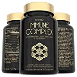 Immune Booster - Immune System Support Supplement - 120 Capsules - Vitamins C & B12, Zinc, Probiotics, Iron, Selenium, Elderberry, Turmeric, Herbal Extracts - Vegan Multivitamin Complex for Men Women