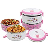 IAMGlobal 2 Tier Thermal Stainless Steel Lunch Bento Box, Unicorn Stackable Food Container, Food...