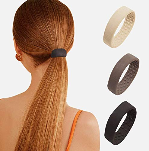 Silikon Haargummi Gummibänder Pferdeschwanz Halter Multifunktions Faltbare Haarschmuck für Damen & Mädchen Geeignet (Schwarz)