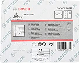 Bosch Professional 2608200022 nagel D-kop nagel 34°, gegalvaniseerd, gering; SN34DK 80RG