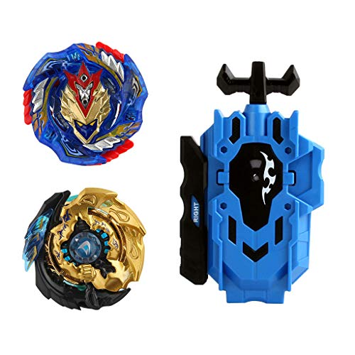 Baoblaze 2pcs Juguete de Peonza de Batalla con Lanzador Doble Dirección Lucha Maestro Fusión Metal B-85, B-127