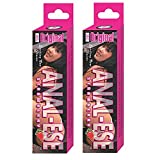 Nasstoys Anal Ese Anal Lubricant, Strawberry, 1.5 Ounce Each - 2 Pack