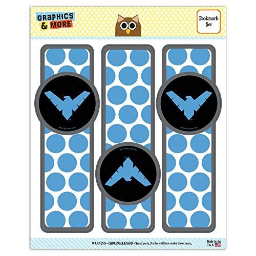 Batman Nightwing Logo Set of 3 Glossy Laminated Bookmarks