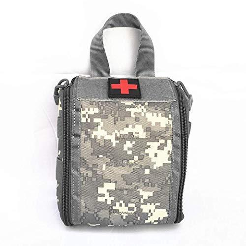 GOXJNG Medizin Box Set Tragbare Erste-Hilfe-Kit Medizin Bag Camping Tactical Pouch Multiwasserdichtes Militär Utility-Kit for den Außenbereich Reisen (Color : ACU Camo)