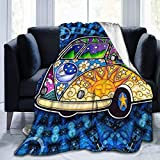 ARRISLIFE Manta de Tiro Psychedelic Tour Bus Ultra-Soft Micro Fleece Manta Warm Manta Manta Lightweight Manta