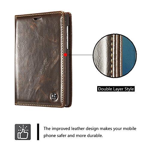 GHC Hüllen, BlackBerry Passport 2 (Passport Silver Edition) Luxus-Business-Stil Volltonfarbe Premium PU Leder Geldbörse Magnetic Design Flip Folio Schutzhülle mit Kartenständer