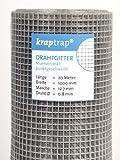 [page_title]-KrapTrap® 12.7 mm Masche, 20m x 1m Volierendraht, Drahtgitter, Drahtzaun, Käfigzaun, Kaninchendraht, Hasendraht