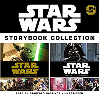 Star Wars Storybook Collection     Star Wars: The Prequel Trilogy Stories and Star Wars: The Original Trilogy Stories              By:                                                                                                                                 Disney Lucasfilm Press                               Narrated by:                                                                                                                                 Bradford Hastings                      Length: 3 hrs and 29 mins     2 ratings     Overall 5.0