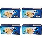 Bloque de queso Cheddar procesado Dana 400 gr | para macarrones, hamburguesas, nachos, salsas (paquete de 4)