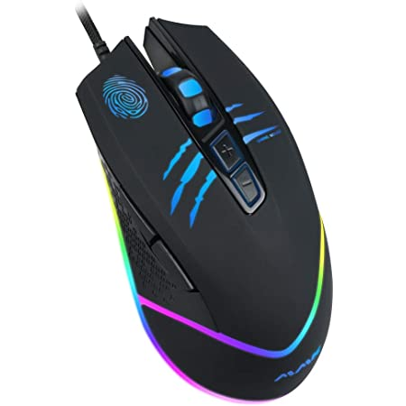 Wired Gaming Mouse USB Optical Mice with Chroma RGB Backlit,7 Buttons,1200 to 7200 DPI for Laptop PC Gamer Computer Desktop