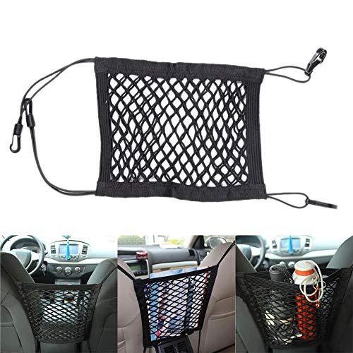 Tonyzhou Co.,ltd 30 * 25cm Car Organizer Seat Back Storage Elastic Car Mesh Net Bag Between Bag Luggage Holder Pocket Car Styling for Auto Vehicles