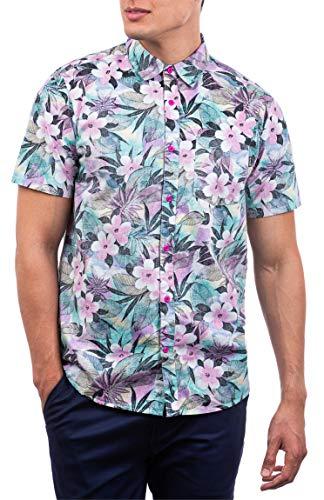 Hurley Spray Gun Woven S/S Camisa, Hombre, Team Crimson, XL
