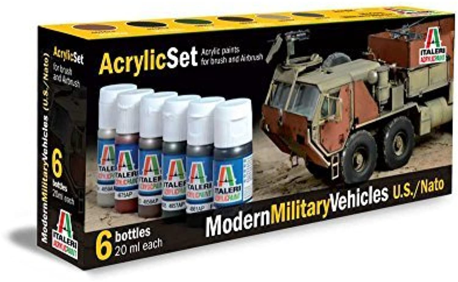 connotación de lujo discreta Italeri Modern Military Vehicles U.S. NATO acrylic paints 6 6 6 bottles per set by Italeri  en promociones de estadios