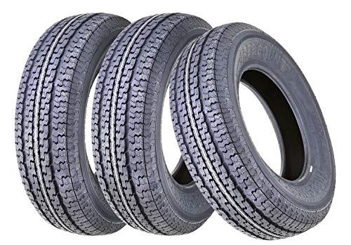 3 New Premium FREE COUTNRY Trailer Tires ST 205/75R15 /8PR Load Range D Raidal w/Scuff Guard