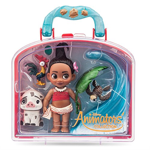 Disney Animators' Collection Moana Mini Doll Play Set - 5 Inch