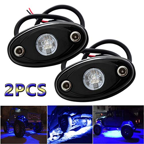 LEDMIRCY LED Rock Lights 10PCS White Kit for JEEP Off Road Truck RZR Auto Car Boat ATV SUV...