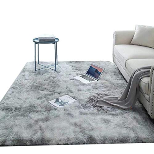 Willlly Super Soft Area Teppich Indoor Modern Carpet Fluffy Anti Skid Pelz Teppich Für Schlafzimmer Wohnzimmer Kids Decor Boden Sale Home Täglich Gebrauch Produkt (Color : Grau, Size : 50x160cm)