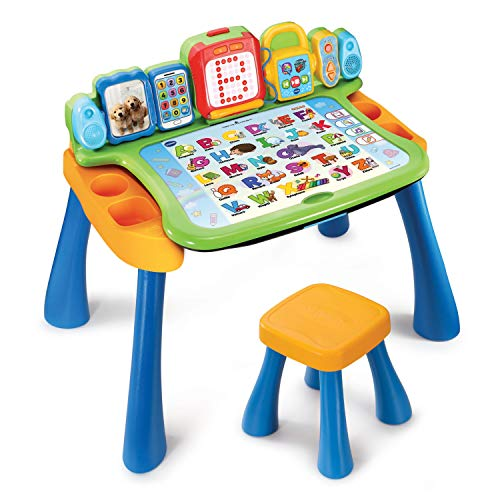 VTech DigiArt Magi bureau interactif 3 en 1 Niño/niña - Juegos educativos (AA, 585 mm, 178 mm, 406 mm, 4,75 kg) versión francesa , color/modelo surtido