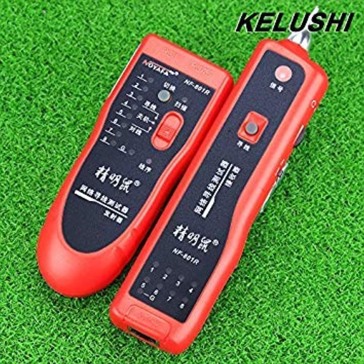 Generic KELUSHI Cable Finder NF-801R Multipurpose Network LAN Cable Tracker Wire Toner Open Tracer Tester Red Support RJ-11 RJ-45