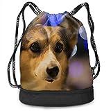 OKIJH Mochila Mochila de Ocio Mochila con cordón Mochila Multifuncional Bolsa de Gimnasio Gymsack Drawstring Bag Sackpack Cute Dog Sport Cinch Pack Simple Bundle Pocke Backpack For Men Women