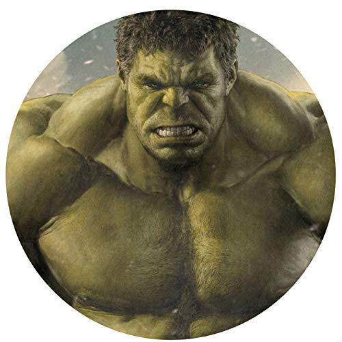 Anime Hulk - Alfombra circular antideslizante para dormitorio, sala de estar, lavable a máquina, decoración del hogar, suelo interior para niños