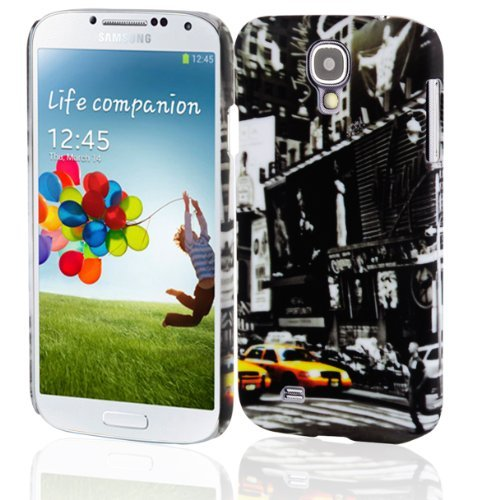 Cadorabo – TPU Hard Cover per > Samsung Galaxy S4 < (I9500/I9505) - Case Cover Involucro Bumper Accessorio in Design: New York Cab