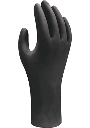 X-Small Black SHOWA 6112PF Biodegradable Nitrile Powder Free Disposable Safety Glove 1 Box of 100 Gloves
