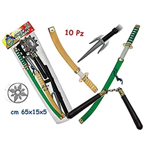 Teorema- Giocattolo Set Ninja Piccolo Samurai, Multicolore, VD63141