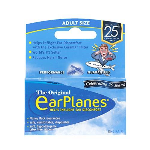 Original Adult EarPlanes by Cirrus Healthcare Earplugs Airplane Travel Ear Protection (1 Pair)