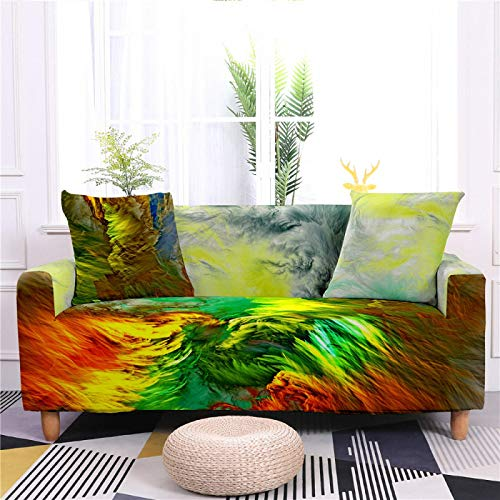 Universal Sofa Cover Spandex Stretch Couch Slipcover Red Green Cloud Pattern Tight Fitted Armchair Loveseat Settee Cover 1/2/3/4 Seater Sofa Protector,3,seater 190,230cm