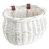 Sunlite Mini Willow Bushel Basket - White