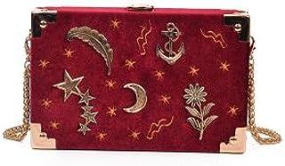 Umhängetasche Damen Clutch Cord Metall Abzeichen Box Form Frauen Party Clutch Tasche Kette Geldbörse Mini Umhängetasche Ha...