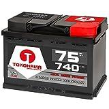 T TOKOHAMA JAPAN QUALITY Autobatterie 75Ah 750A +30% mehr Leistung Starterbatterie ersetzt 70Ah 72Ah 74Ah