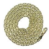 Cadena de oro amarillo macizo de 18k para hombre de eslabones ojo de tigre de 4mm de ancha y 60cm de larga. Cierre mosquetón Peso; 15.45gr de oro de 18k.