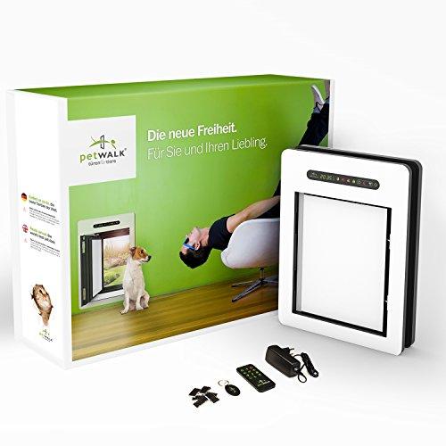 petWALK - Haustüre für Katzen und kleinere Hunde mit Links angeschlagenem Türblatt