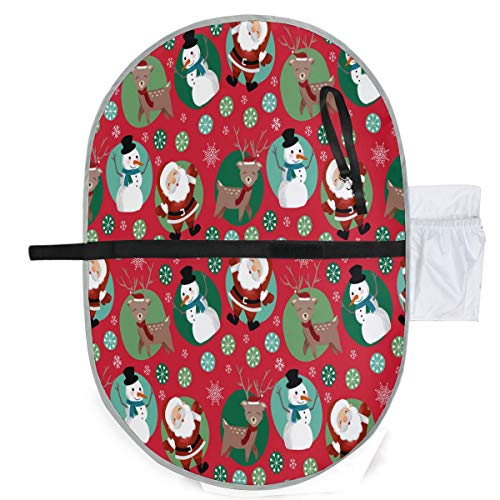 ZZXXB Santa Claus Reindeer Snowman Baby Portable Changing Pad Waterproof Diaper Change Mat Large for Infant Quick Change