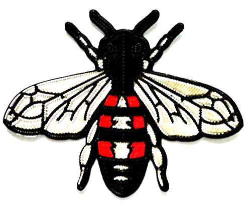 Bee Silver Wings Iron Sew On Embroidered Sticker Cartoon Kids Embroidery Ideal for adorning Your Clothes Jeans Hats Bags Jackets Shirts or Gift Set