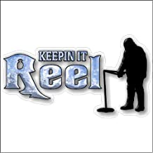 Keepin It Reel....Funny Fishing Decal Boat Car Truck Removable Ice Fishing Sticker (5
